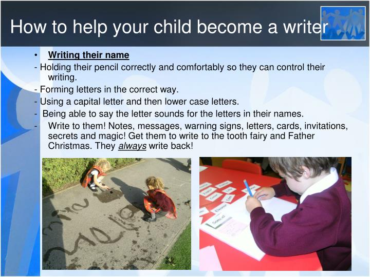 How to help your child become a writer
