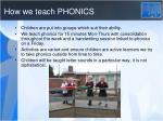 how we teach phonics