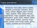 topics and themes