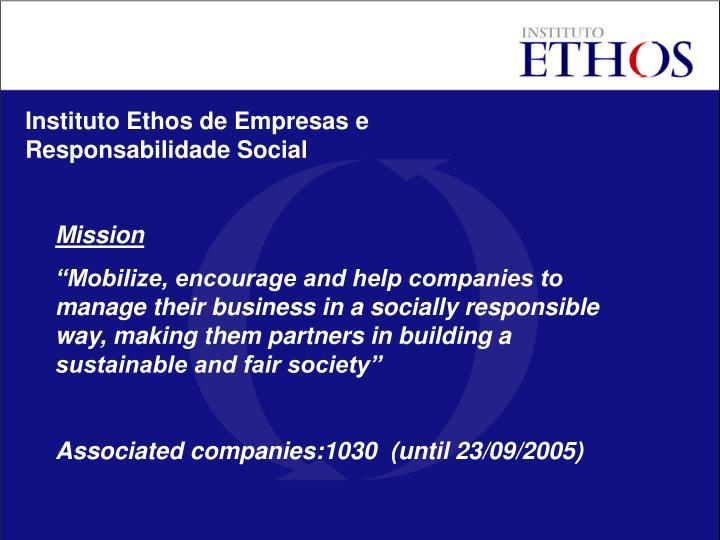 Instituto Ethos de Empresas e Responsabilidade Social