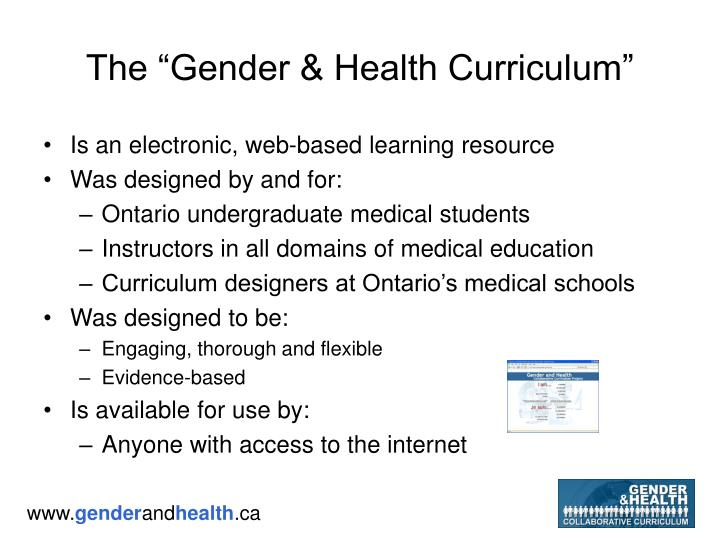 "The ""Gender & Health Curriculum"""