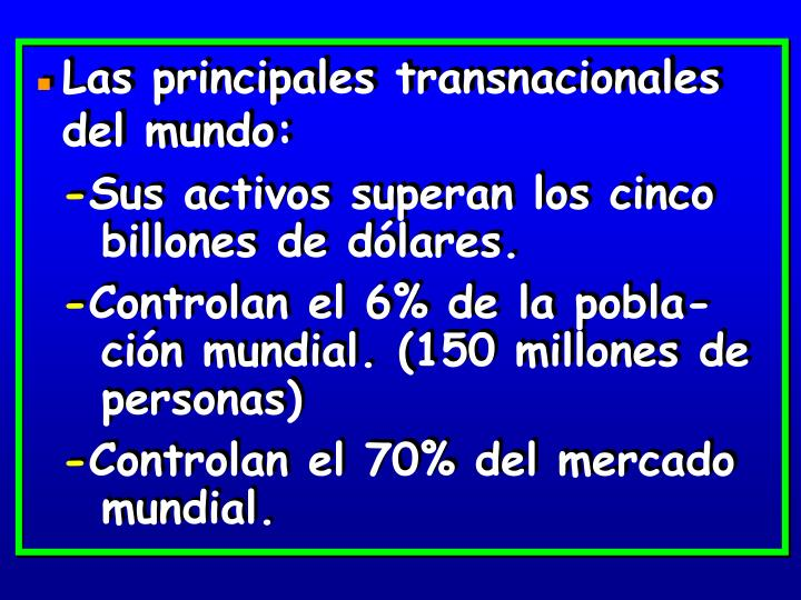 Las principales transnacionales del mundo: