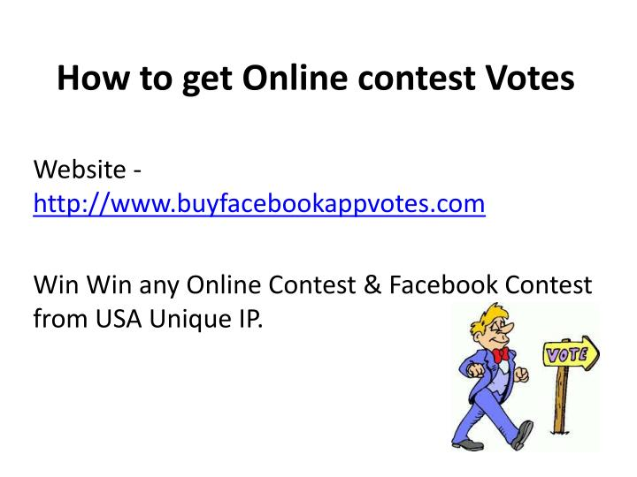 How to get online contest votes