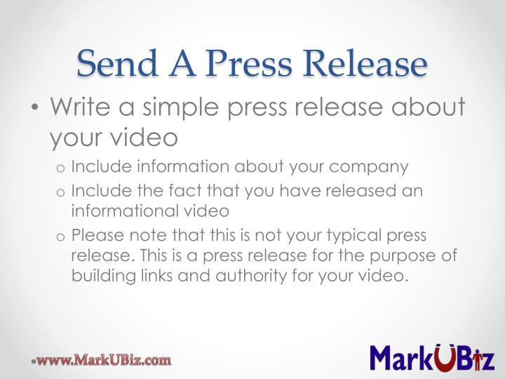 Send A Press Release