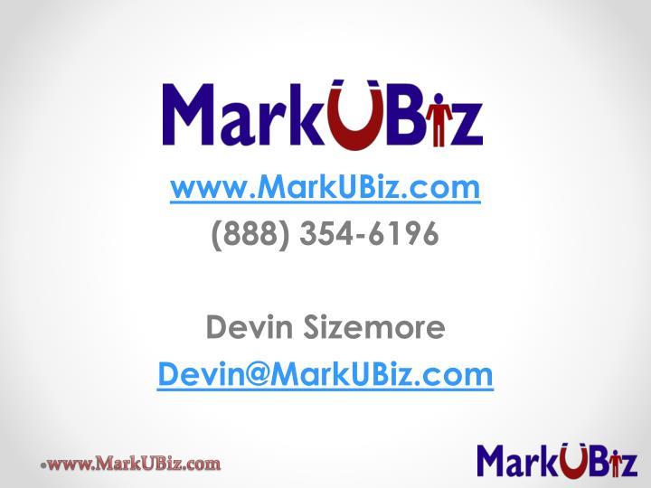www.MarkUBiz.com