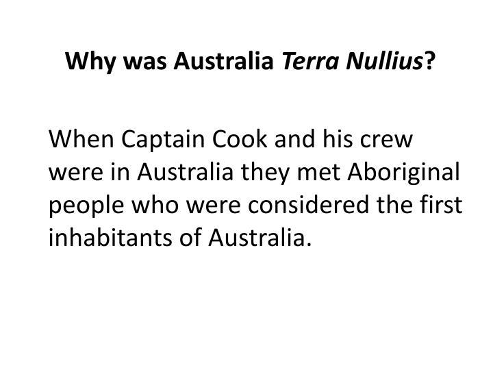 Why was Australia