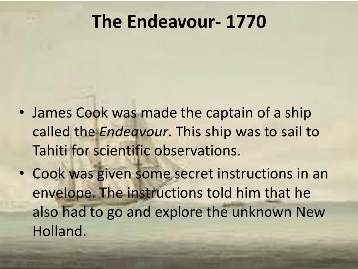 The Endeavour- 1770