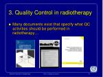 3 quality control in radiotherapy