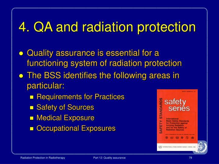 4. QA and radiation protection
