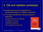 4 qa and radiation protection