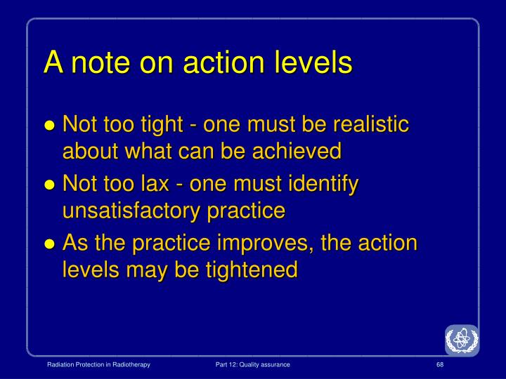 A note on action levels