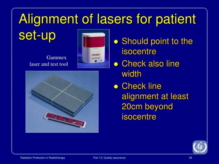 Alignment of lasers for patient set-up