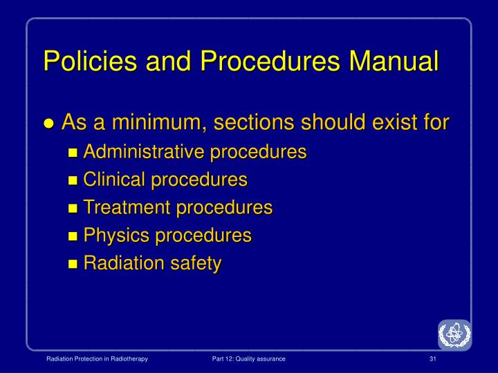 Policies and Procedures Manual