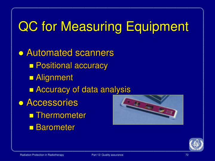 QC for Measuring Equipment