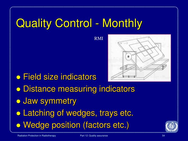 Quality Control - Monthly