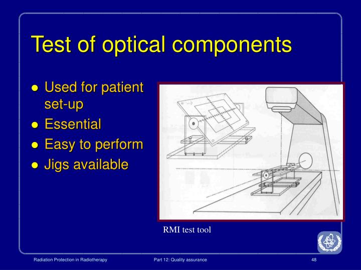 Test of optical components