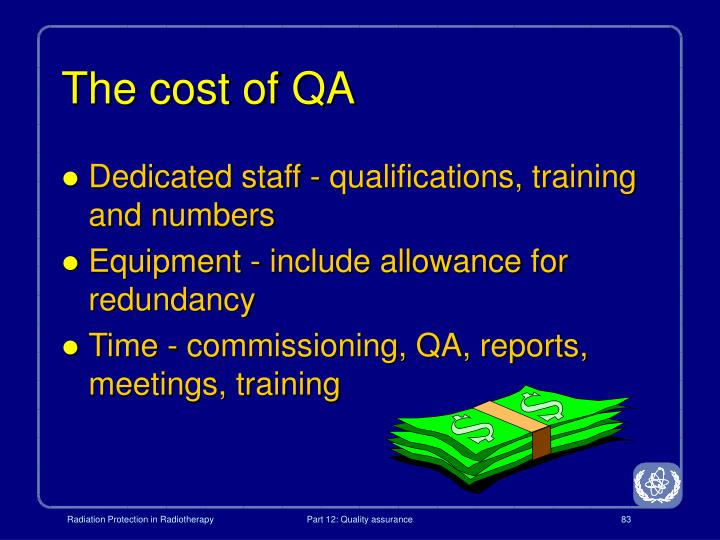 The cost of QA
