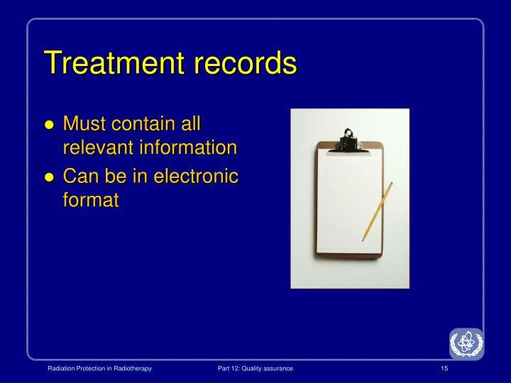Treatment records