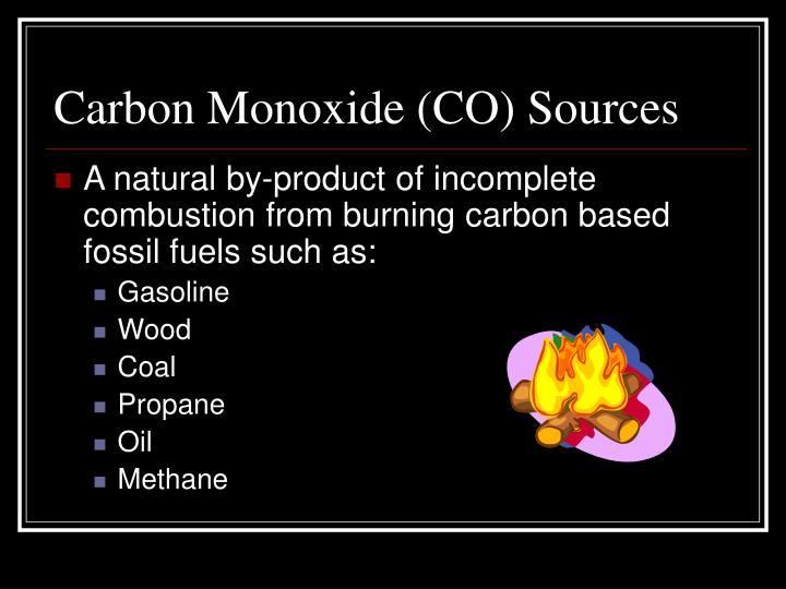 Carbon Monoxide (CO) Sources