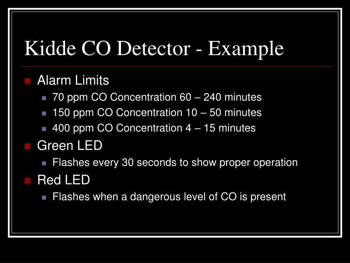 Kidde CO Detector - Example