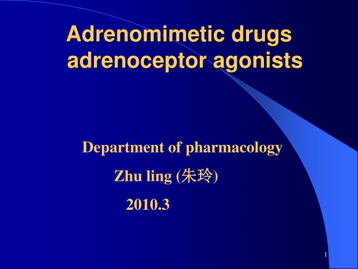 Adrenomimetic drugs adrenoceptor agonists