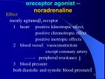 receptor agonist noradrenaline1