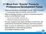 3 move from events focus to professional development focus