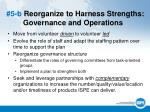 5 b reorganize to harness strengths governance and operations