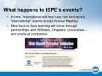 what happens to ispe s events