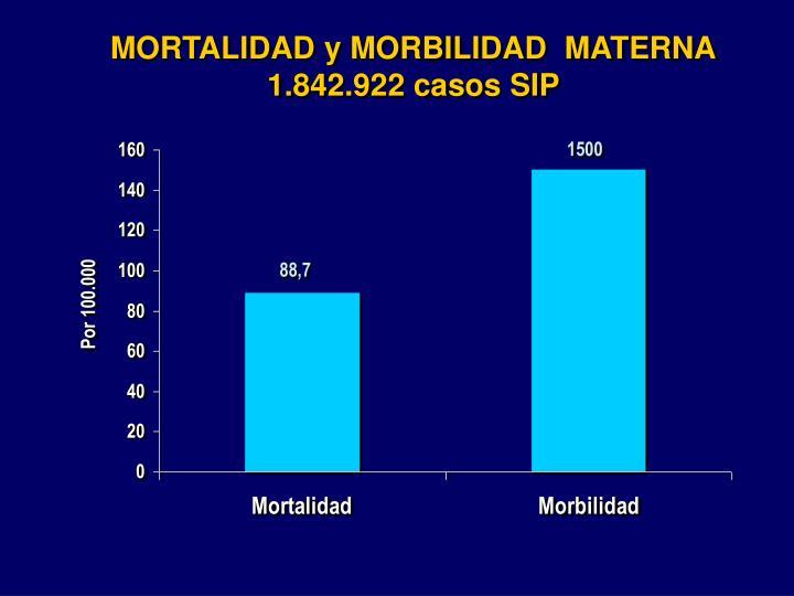 MORTALIDAD y MORBILIDAD  MATERNA