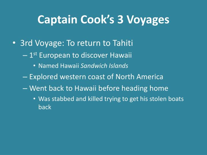 Captain Cook's 3 Voyages