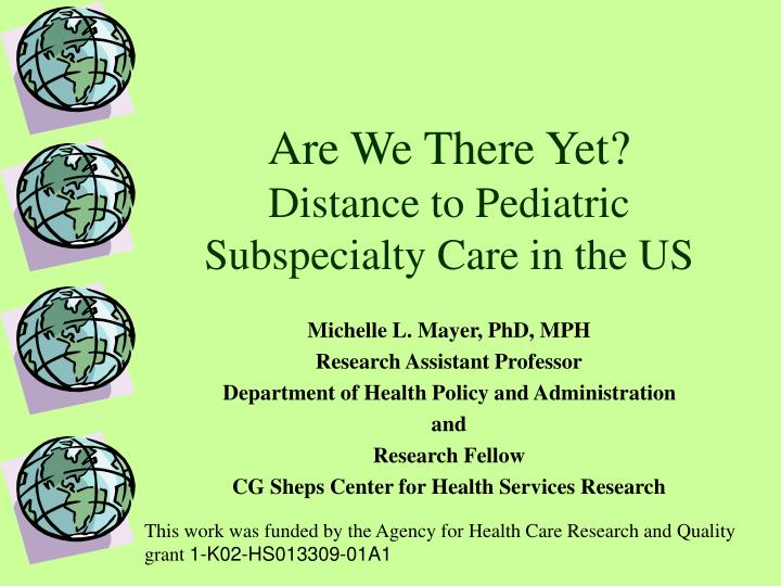 Are we there yet distance to pediatric subspecialty care in the us