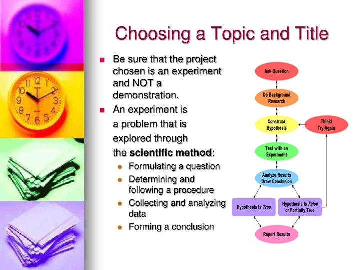 Choosing a topic and title1