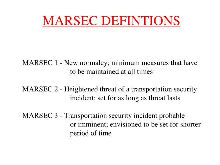 MARSEC DEFINTIONS