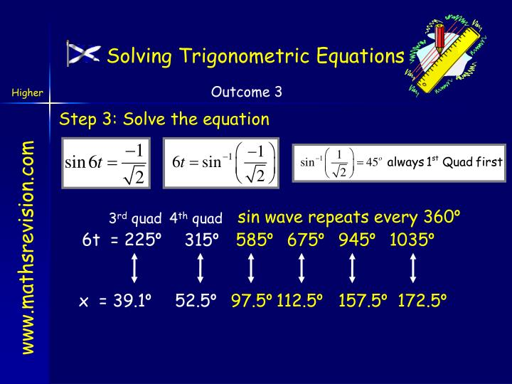 Solving Trigonometric Equations
