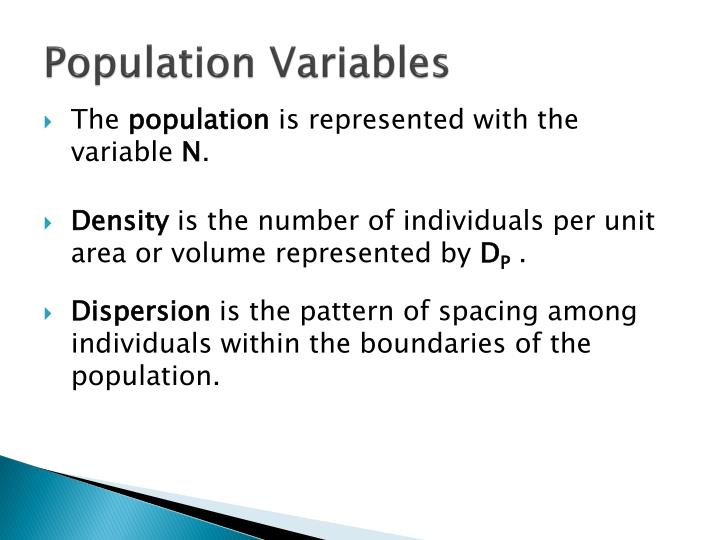 Population Variables