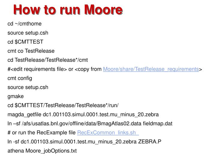 How to run Moore