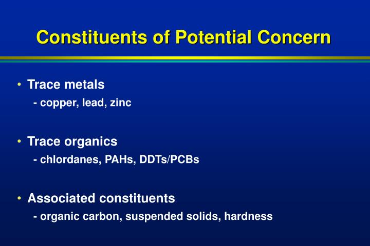 Constituents of Potential Concern