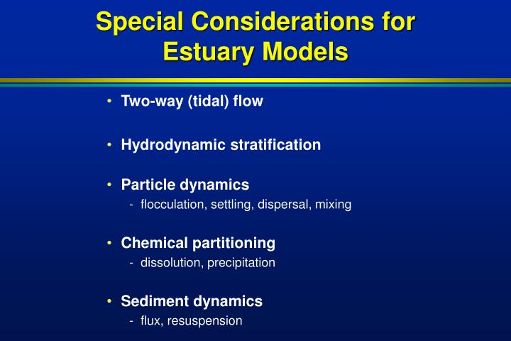 Special Considerations for