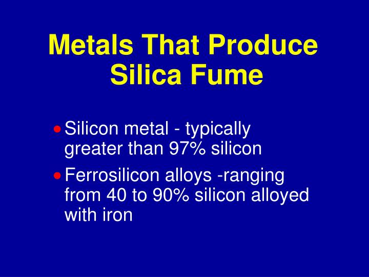 Metals That Produce