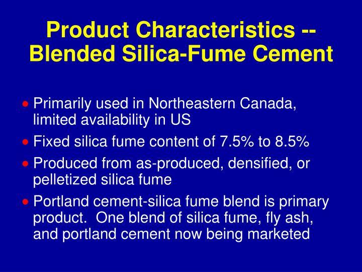 Product Characteristics --
