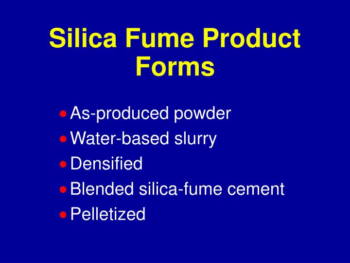 Silica Fume Product Forms