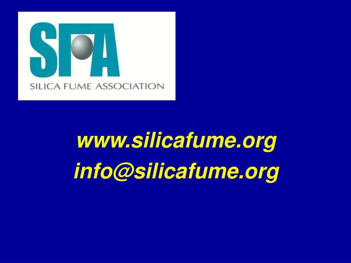 www.silicafume.org