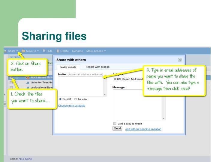 Sharing files