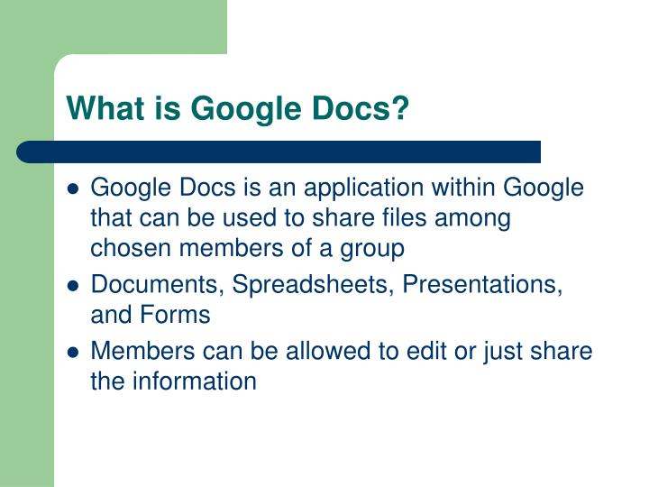 What is google docs