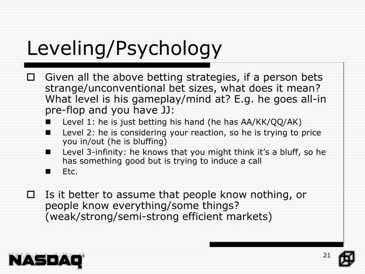 Leveling/Psychology