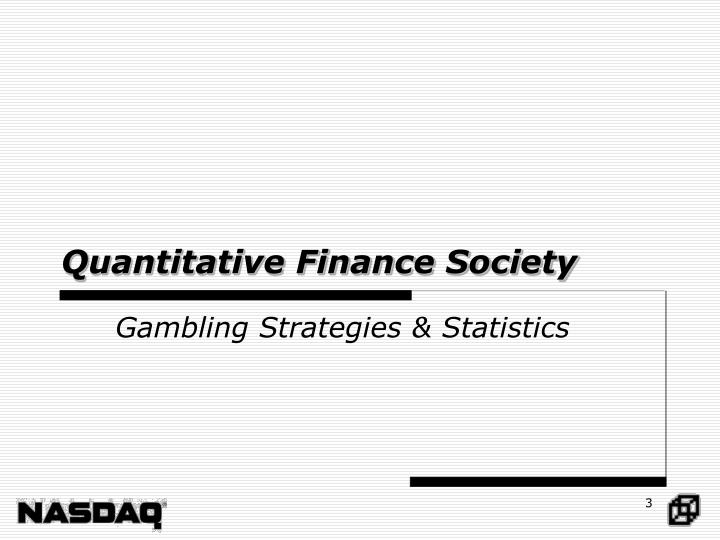 Quantitative finance society