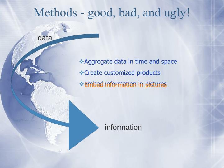 Methods - good, bad, and ugly!