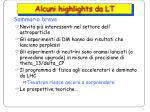 alcuni highlights da lt