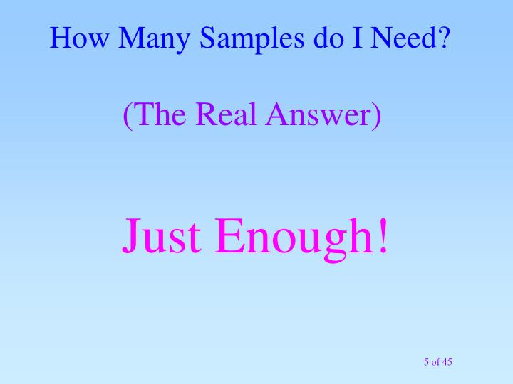 How Many Samples do I Need?